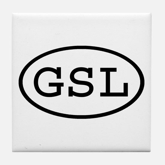 GSL Oval Tile Coaster