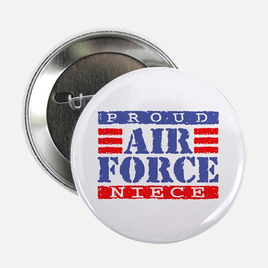 Proud Air Force Niece Button