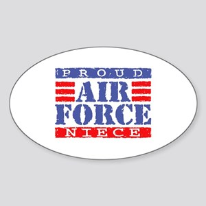 Proud Air Force Niece Oval Sticker