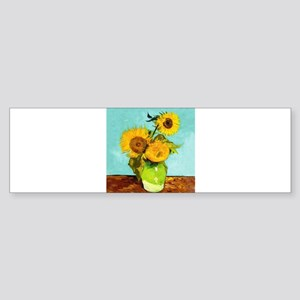 Vincent Van Gogh Three Sunflowers I Bumper Sticker