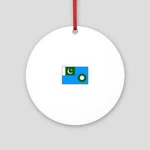 Pakistani Air Force Flag Ornament (Round)