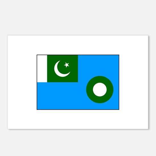 Pakistani Air Force Flag Postcards (Package of 8)