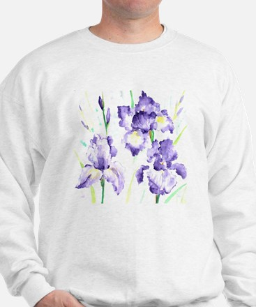 Watercolor Abstract Iris Pattern Sweatshirt