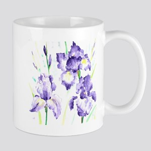 Watercolor Abstract Iris Pattern Mug