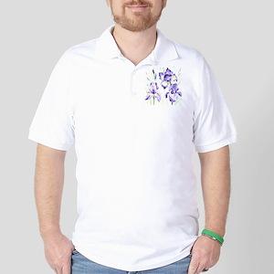 Watercolor Abstract Iris Pattern Golf Shirt
