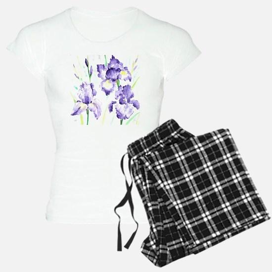 Watercolor Abstract Iris Pa Pajamas