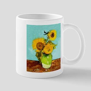 Vincent Van Gogh Three Sunflowers In A Vase Mugs