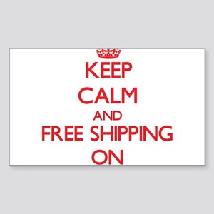 Keep Calm and Free Shipping ON Sticker
