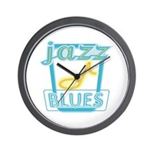 Blues and Jazz Wall Clock