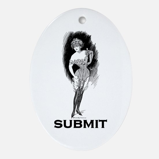 Submit Oval Ornament