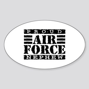 Proud Air Force Nephew Oval Sticker