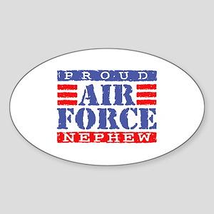 Proud Air Force Nephew Oval Sticker