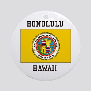 Honolulu, Hawaii Ornament (Round)