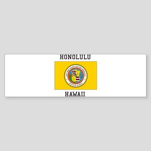 Honolulu, Hawaii Bumper Sticker