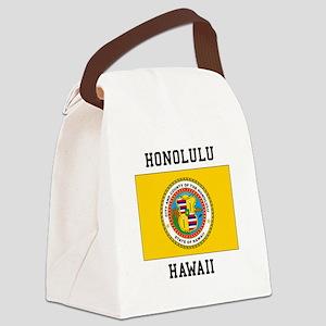 Honolulu, Hawaii Canvas Lunch Bag