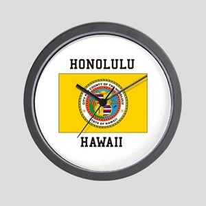 Honolulu, Hawaii Wall Clock