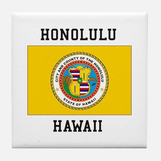 Honolulu, Hawaii Tile Coaster