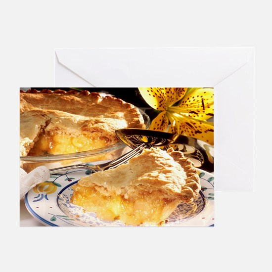 Apple Pie Dessert Greeting Card
