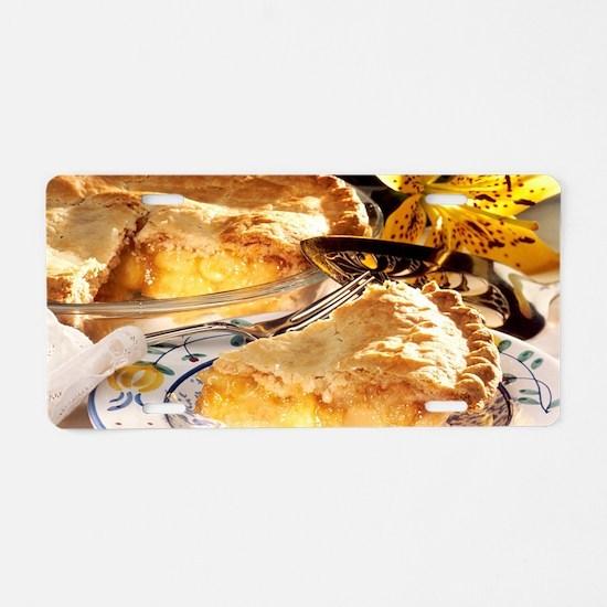 Apple Pie Dessert Aluminum License Plate