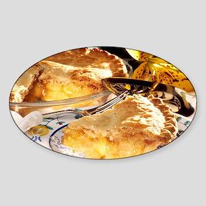 Apple Pie Dessert Sticker (Oval)