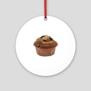 Blueberry Muffin Round Ornament