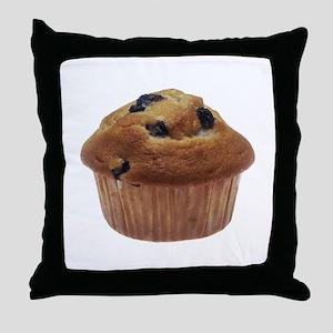 Blueberry Muffin Throw Pillow