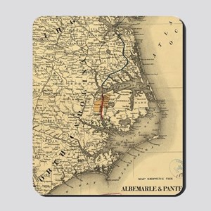 Vintage Map of The North Carolina Coast  Mousepad
