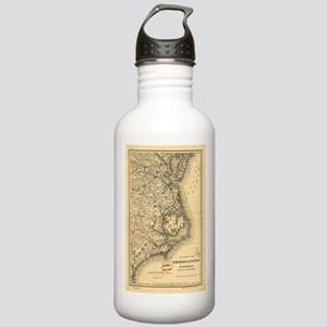 Vintage Map of The Nor Stainless Water Bottle 1.0L