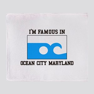 Ocean City, Maryland Throw Blanket