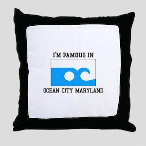 Ocean City, Maryland Throw Pillow