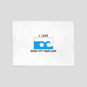 Ocean City, Maryland 5'x7'Area Rug