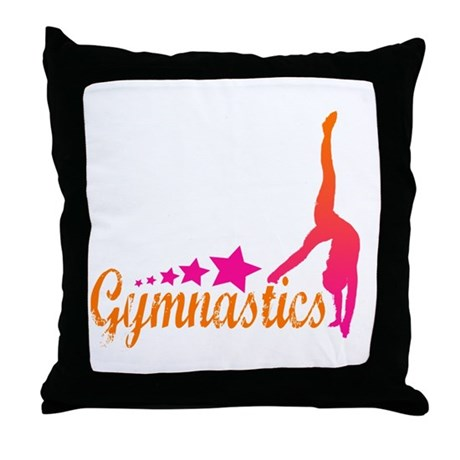 Gymnastics! Throw Pillow