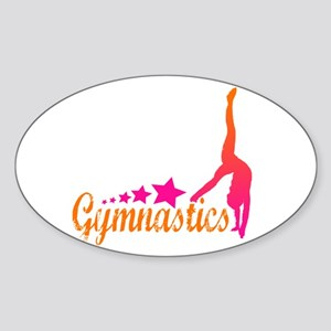 Gymnastics! Oval Sticker