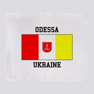 Odessa, Ukraine Flag Throw Blanket