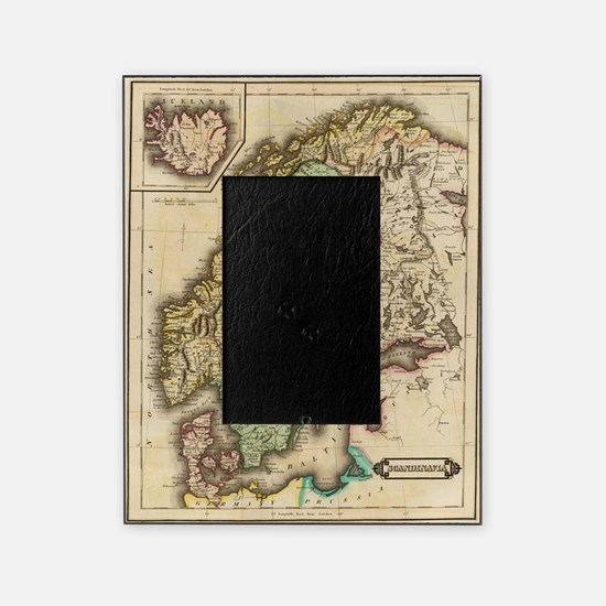 Vintage Map of Norway and Sweden (18 Picture Frame