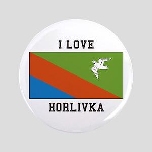 I Love Horlivka Button