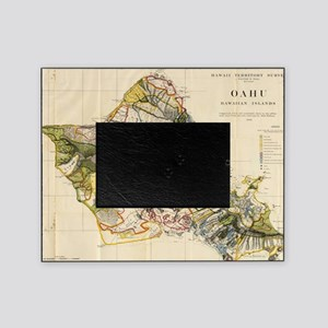 Vintage Map of Oahu Hawaii (1906) Picture Frame