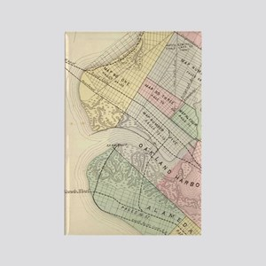 Vintage Map of Oakland California Rectangle Magnet