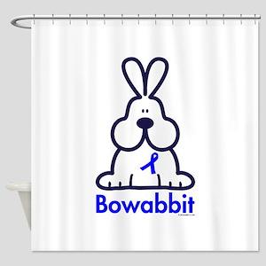 Autism blue ribbon Shower Curtain