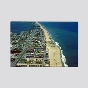 Aerial View of Ocean City Marylan Rectangle Magnet