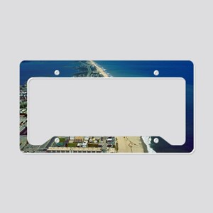 Aerial View of Ocean City Mar License Plate Holder