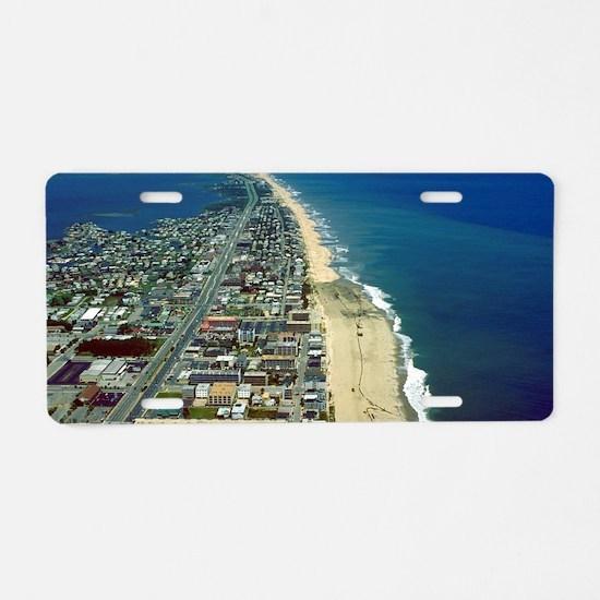 Aerial View of Ocean City M Aluminum License Plate