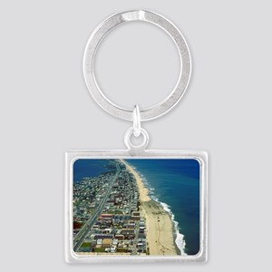 Aerial View of Ocean City Maryl Landscape Keychain