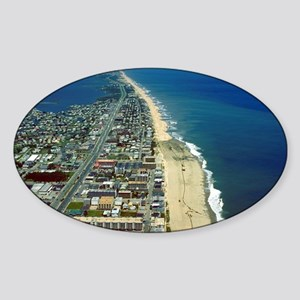 Aerial View of Ocean City Maryland Sticker (Oval)