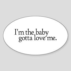 I'm the Baby Oval Sticker