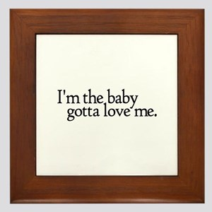 I'm the Baby Framed Tile