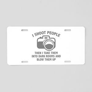 I Shoot People Aluminum License Plate