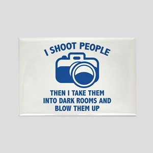 I Shoot People Rectangle Magnet