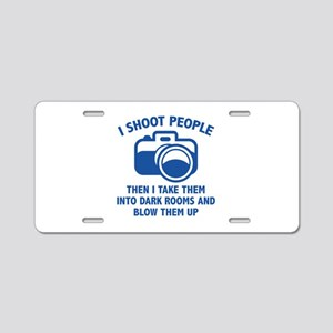 I Shoot People Aluminum License Plate