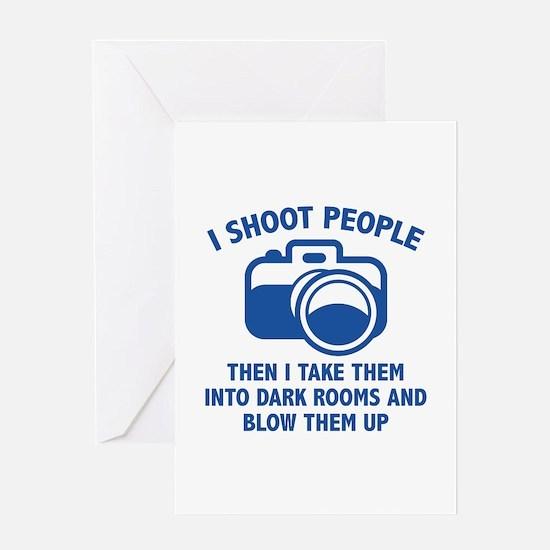 I Shoot People Greeting Card